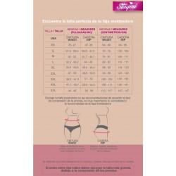 SMI04006 Panty ultra invisible Push Up ideal para usar con vestido - Efecto invisible